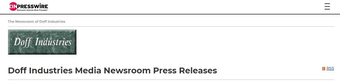 Doff Industries Media Newsroom Header Image